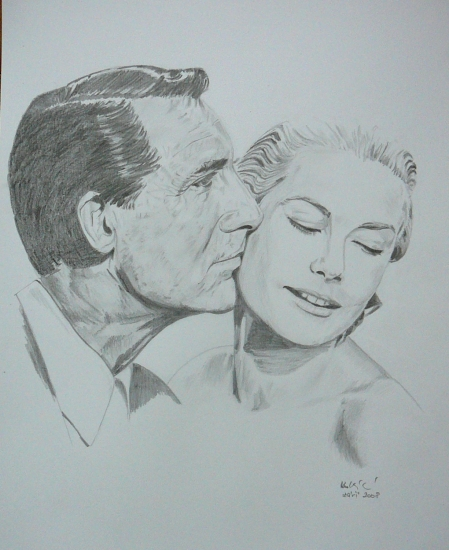 Grace Kelly, Cary Grant by Coucou